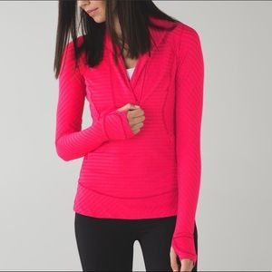 Lululemon Think Fast Pullover in Red Stripes